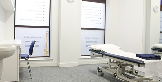 Interior shot of Minshull St, Manchester OT clinic room.